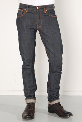 Nudie: Grim Tim Dry Orange Selvage