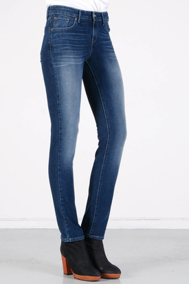 Levis: Demi Curve Slim Worn In Dark Blue