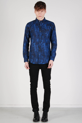 L'Homme Rouge: Deep Ocean Blue Shirt