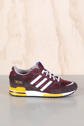 Adidas: ZX 750 Light Maroon Burgundy