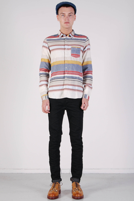 Edwin: Simple Shirt Dobby Stripes Multicolor
