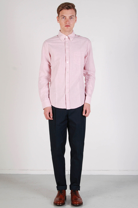 Ben Sherman: LS Shirt Soho Fit Letterbox Red