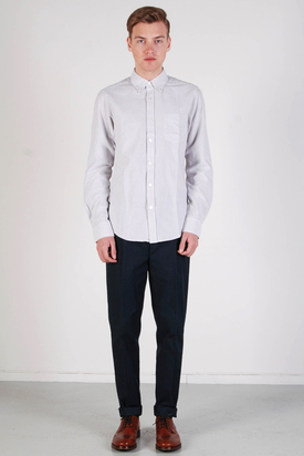 Ben Sherman: LS Shirt Soho Fit Monument Grey