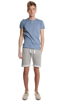 Levis: Open Neck Eco Lab Blue Tee