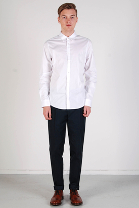 Ben Sherman: LS Shirt Soho Fit Bright White