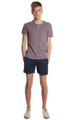 Levis: Open Neck Eco Lab Purple Tee