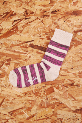 Happy Socks: Hemp Creme/Pink