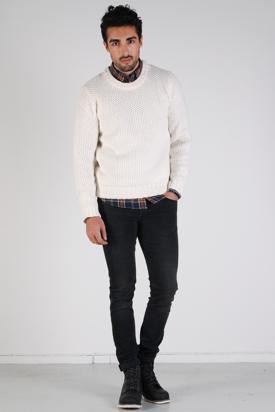 Dr Denim:Werner Offwhite Sweater