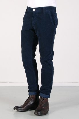 Elvine: Slimson Cord Chino Midnight Blue