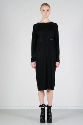 Ann-Sofie Back: Zip Ls Dress Black