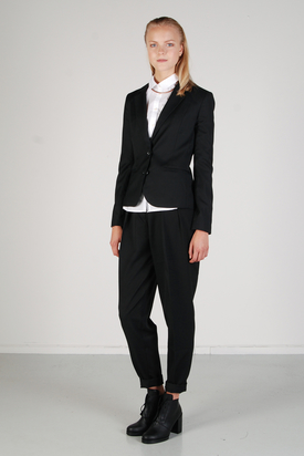 Pop Cph: Two-Button Black Light Wool Blazer
