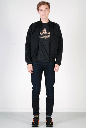 Adidas: Court SS Padded Black Jacket