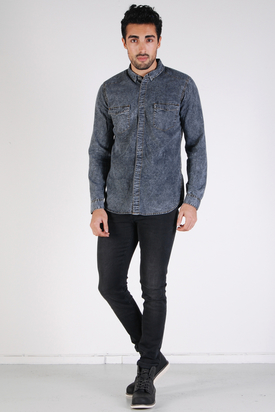 Dr Denim: Crawford Denim Shirt Black Stone