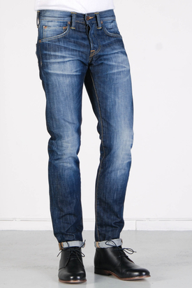 Edwin: ED-55 Relaxed Dark Blue Rider Wash