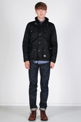 Brixtol: Cole Wax Black Jacket