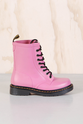 Dr Martens:1460 Drench Wellington Matt Pink