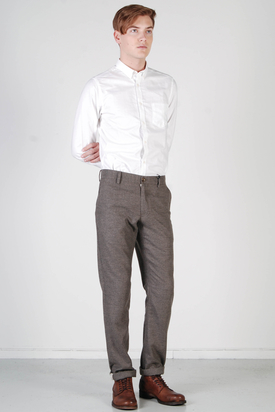 Ben Sherman: EC1 Casual Bottoms Mid Grey Flannel