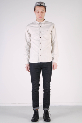 Edwin: Simple Shirt Flanel Winter White