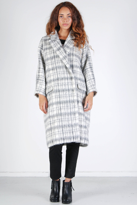 Carin Wester: Babel Cream Check Coat