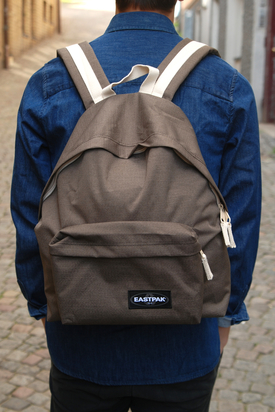 Eastpak: Padded Pak'r Green Brown Eco