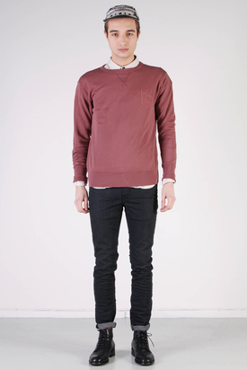 Edwin: College Crew Sweater Mulled