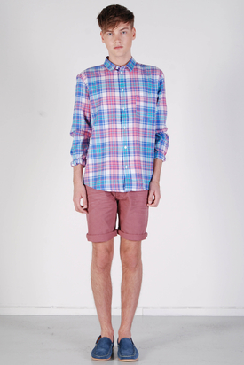 Cheap Monday: Neo Shirt Blue Pink Check