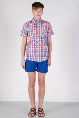 Ben Sherman: SS Shirt Bleached Red