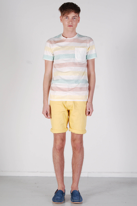 Edwin: Marvin Tee Rainbow/Chalk