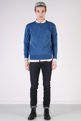 Edwin: College Crew Sweater RAF Blue