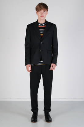 Pop Cph: Mens Two-Button Wool Black Blazer