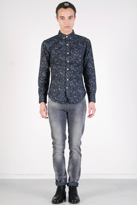 L'Homme Rouge: Black Marble Crystals Shirt