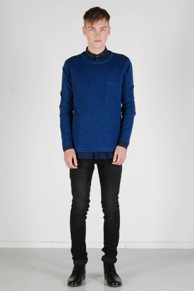Samsøe & Samsøe: Hoya Estate Blue Sweater