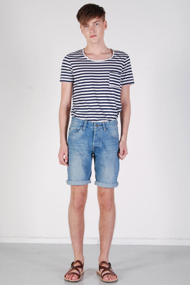 Samsøe & Samsøe: Stan Denim Shorts Light Blue