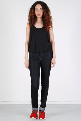 Dr Denim: Dawn Singlet Black