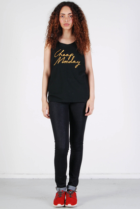 Cheap Monday: Nomi Tank Black Cheap Gold