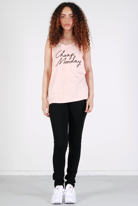 Cheap Monday: Nomi Tank Pink Cheap Black
