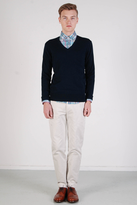 Ben Sherman: Crew Neck Navy Jumper