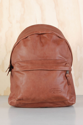 Eastpak: Padded Pak'r Russet Brown Leather