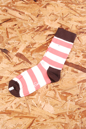 Happy Socks: Pink/White/Brown