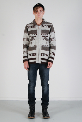 Nudie: Lenny Zip Cardigan Moose
