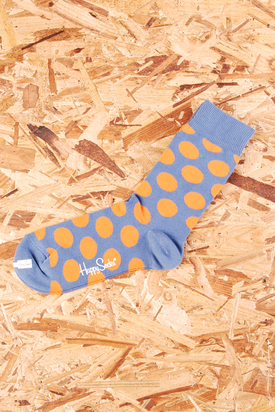 Happy Socks: Blue W. Orange Dots
