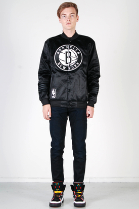 Adidas: NBA Brooklyn Nets Black Jacket