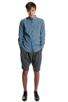 Knowledge Cotton Apparel: Chambray Denim Shirt Light