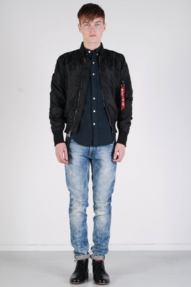 Alpha Industries: MA-1 TT Bomber Spring Jacket Black