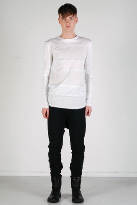 Odeur: Rows L/S T-shirt Grey/White