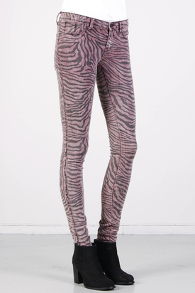 Dr Denim: Kissy Zebra Print Mauve