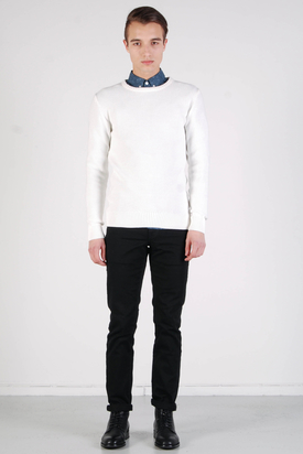Knowledge Cotton Apparel: Basic Knit Winter White Without Owl