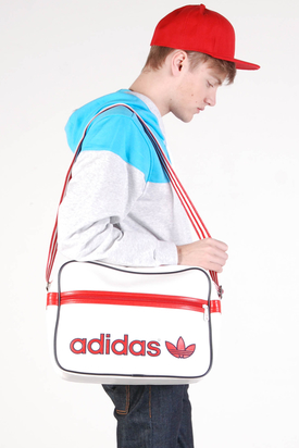 Adidas: AC Airline White Vivid Red Bag