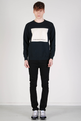 L'Homme Rouge: LHR Print Sweater Black