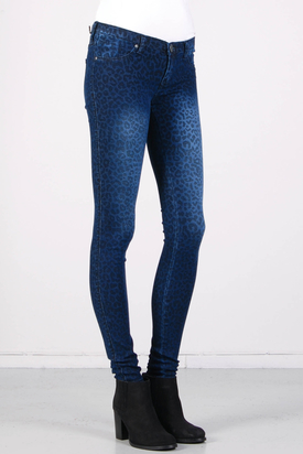 Dr Denim: Kissy Denim Leopard Dark